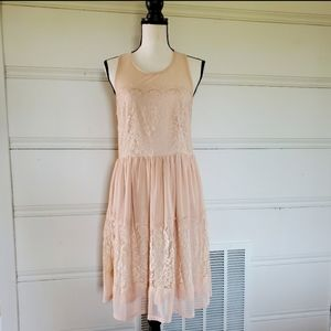 Charlotte Russe Nude Lace Dress